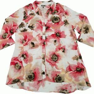 Jm Collection Roll-Tab Oversized Shirt Artisan L